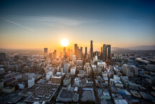 Aerial View Of Los Angeles At ...