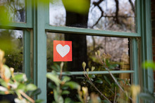 Paper Heart In Window 2