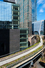 Empty Highline. New York City On Lock Down During The Corona Virus Pandemic. Editorial Use Only