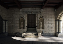 Monumental Entrance With Ancie...