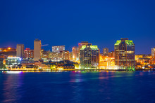 Halifax City Skyline At Night ...