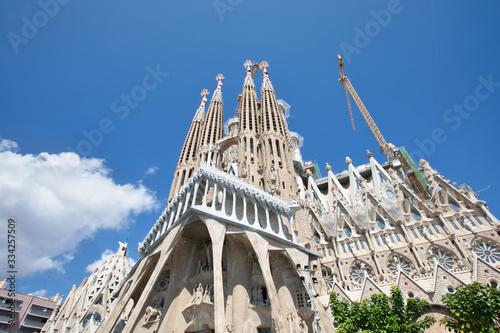 Photo Sagrada Familia, designed by Antoni Gaudi, Barcelona Spain