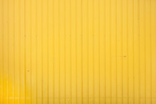 Closeup Of Yellow Corrugated S...