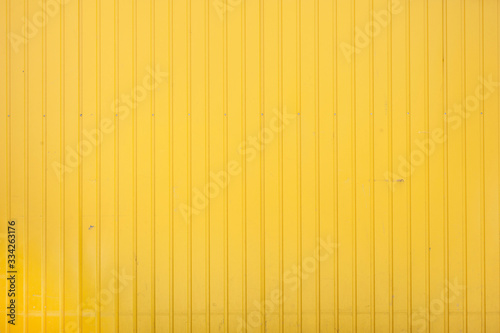 Closeup of yellow corrugated steel panel Canvas