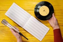 Blank Music Book, Vinyl Record...