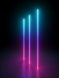 canvas print picture - 3d render, abstract background with bright neon light. Pink blue violet vertical glowing lines. Laser rays in the dark. Futuristic minimal geometric design. Ultraviolet spectrum.