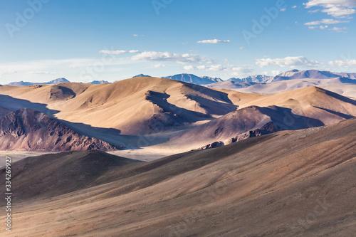 Photo Mongolia landscape. Altai Tavan Bogd National Park in Bayar-Ulgii