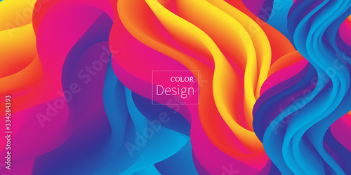 Fototapeta Fluid Colors. Liquid Shape. Ink Splash. Vector.