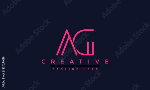 Photo AG Letter Logo Design
