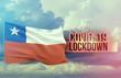Coronavirus outbreak and coronaviruses influenza lockdown concept with flag of Chile. Pandemic 3D illustration.