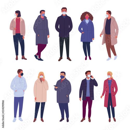 Outerwear people collection Slika na platnu