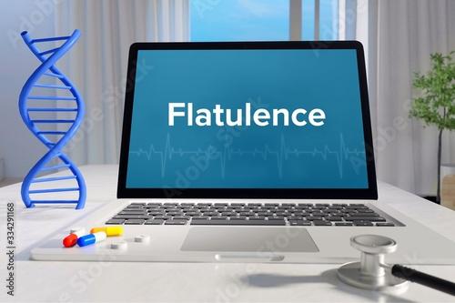 Valokuvatapetti Flatulence – Medicine/health