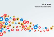 Social Media Emoji Icons. Vect...