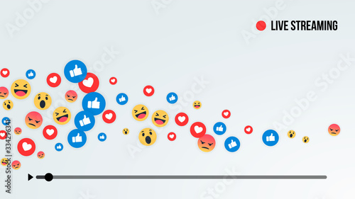 Social media live stream Fototapeta