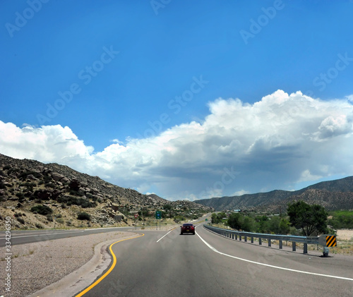 I-40 Out of Albuquerque Heading East Canvas Print