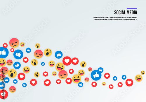 Social media emoji icons фототапет