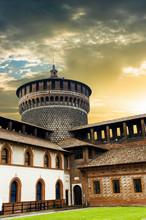 Sforza Castle In Milan In Italy