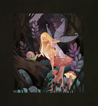 Fairytale Illustration Cute Fa...