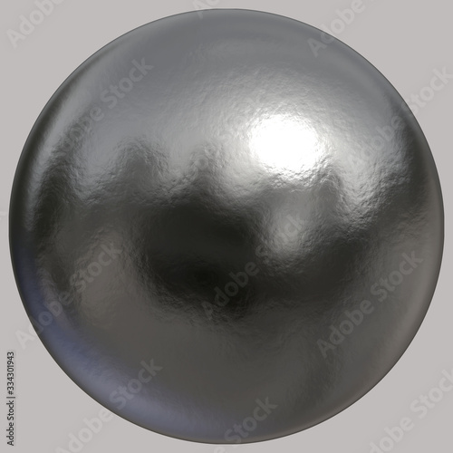 Fotografia A 3D created solid textured silver sphere on grey