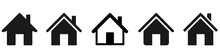 House Icons Set. Home Icon Col...