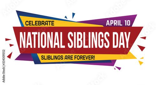 Fototapeta National siblings day banner design obraz