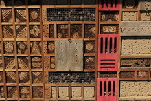 Close Up Of A Bee Hotel Made F...