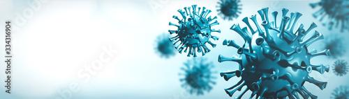 Coronavirus 3D render, COVID-19 pandemic Canvas Print