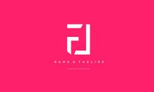 Alphabet Letter Icon Logo FL