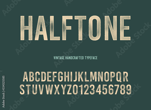vintage handcrafted typeface with halftone effect Fototapet