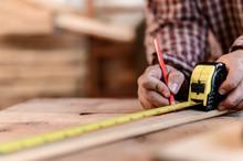 Carpenter Working In Carpentry...
