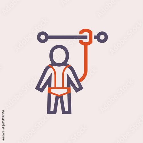 Obraz na plátne safety harness icon