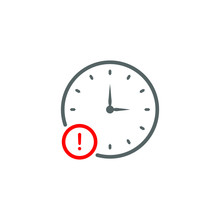Delay Icon Design Isolated On White Background. Vector Illustration