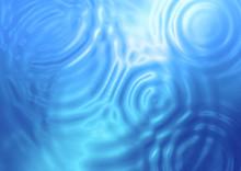 水面に広がる波紋
