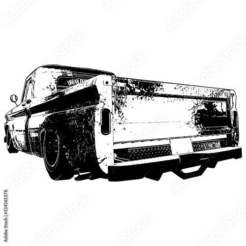 Fotografie, Obraz old vintage car hot rod rat rod