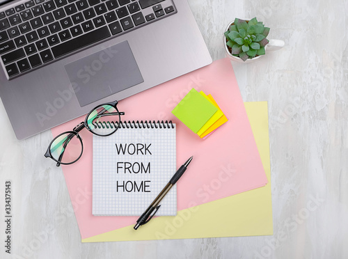 work from home concept Wallpaper Mural