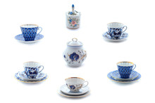 Collection Of Porcelain Tea Cu...