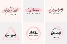 Feminine Logo Collection Design Template
