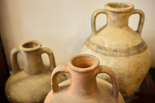 Ancient Greek Jugs And Amphorae.