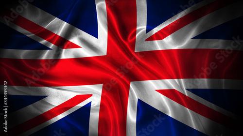 Fotografia, Obraz Close up waving flag of Great Britain