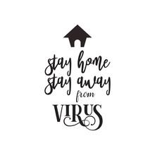 Virus Quote Lettering Typograp...