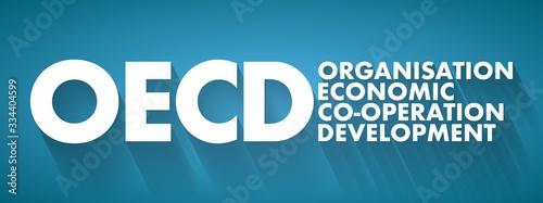 Fényképezés OECD - Organisation for Economic Co-operation and Development acronym, business