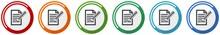 Subscribe Icon Set, Flat Desig...