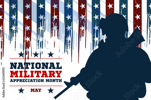 National Military Appreciation Month in May Wallpaper Mural