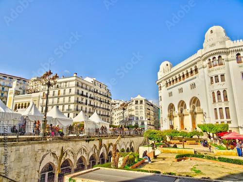 Algiers colonial architecture, Algeria, HDR Image Wallpaper Mural