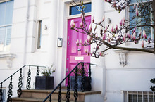 Pink Door In Notting Hill