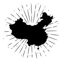 Map Of China. Hand Drawn Vecto...