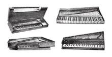 Old Keyboard Musical Instrumen...