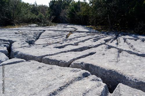 Stampa su Tela Limestone pavement Beetham Cumbria part of the Beetham trail