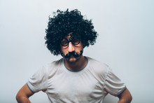 Young Guy In Black Wig