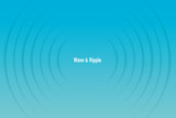 Fototapeta Perspektywa 3d - Vector illustration of radio wave and ripple(water)